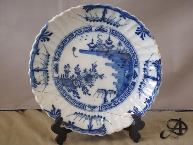 Bord, Delft, 18e eeuw