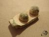 Gespplaat met 2 siernagels, 15e eeuw?